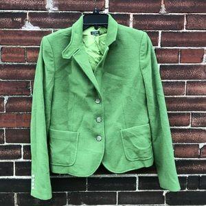 J.Crew Green Wool Lined Blazer